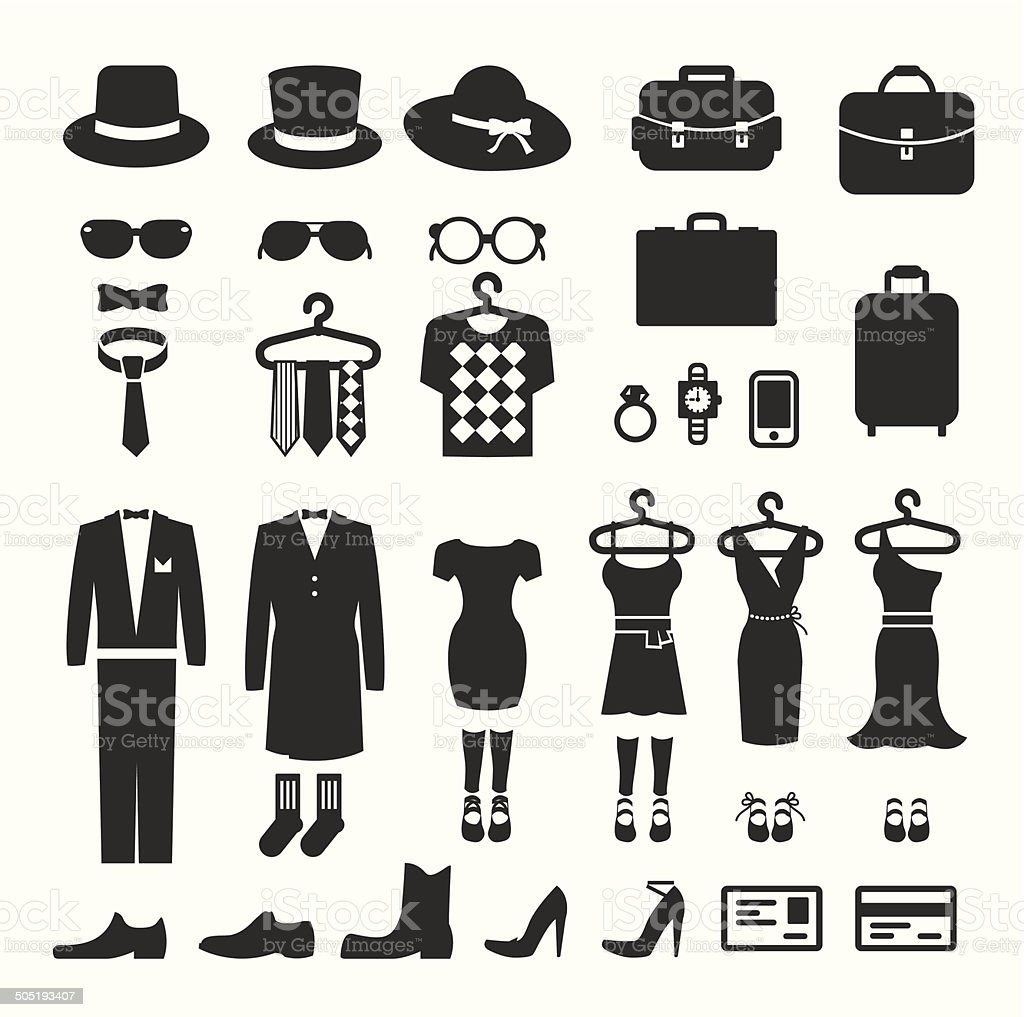 Clothing Store shopping Icon vector vector art illustration