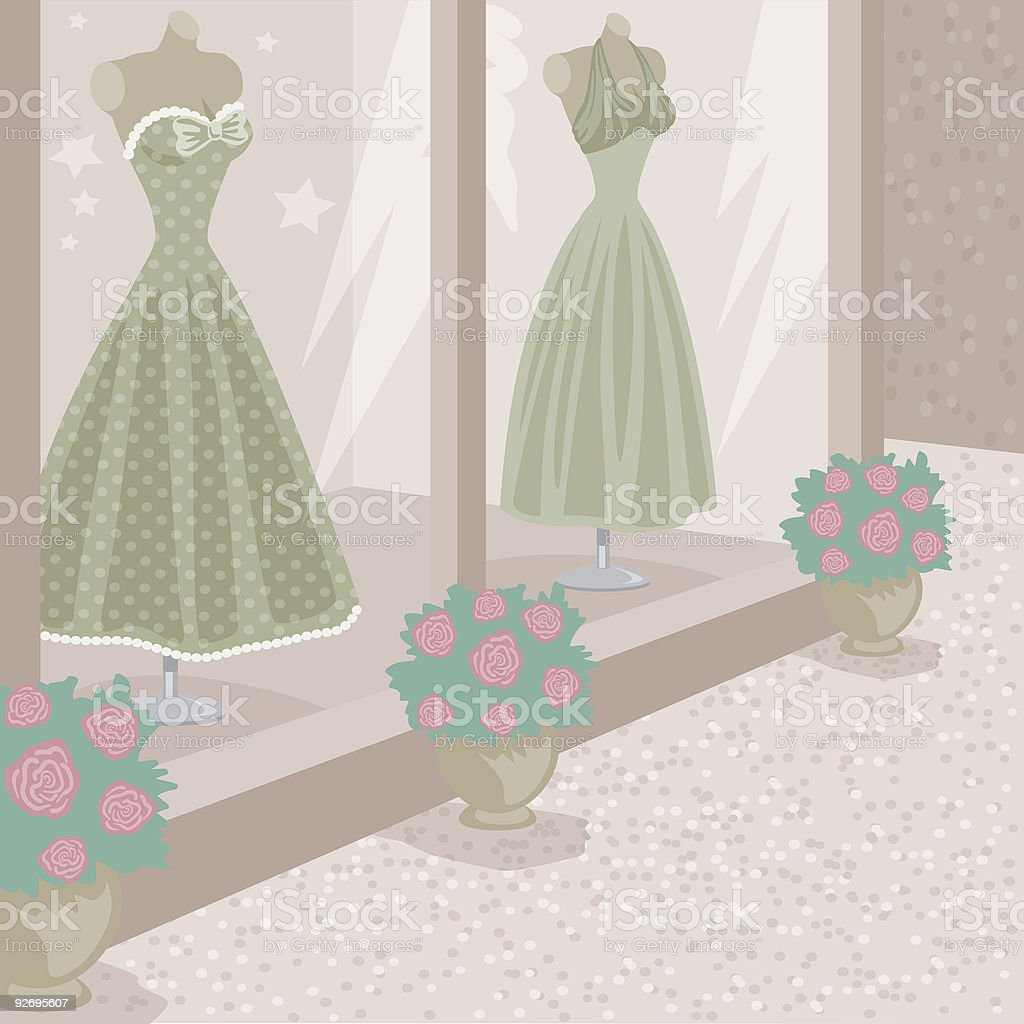 Clothing Store royalty-free stock vector art