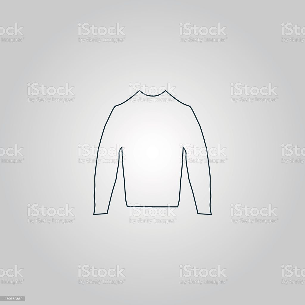 Clothing sweater Pictogram vector art illustration