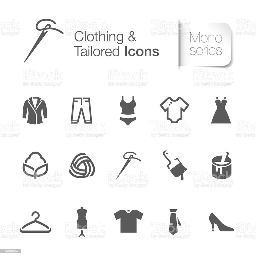 clothing & tailored related icon vector art illustration