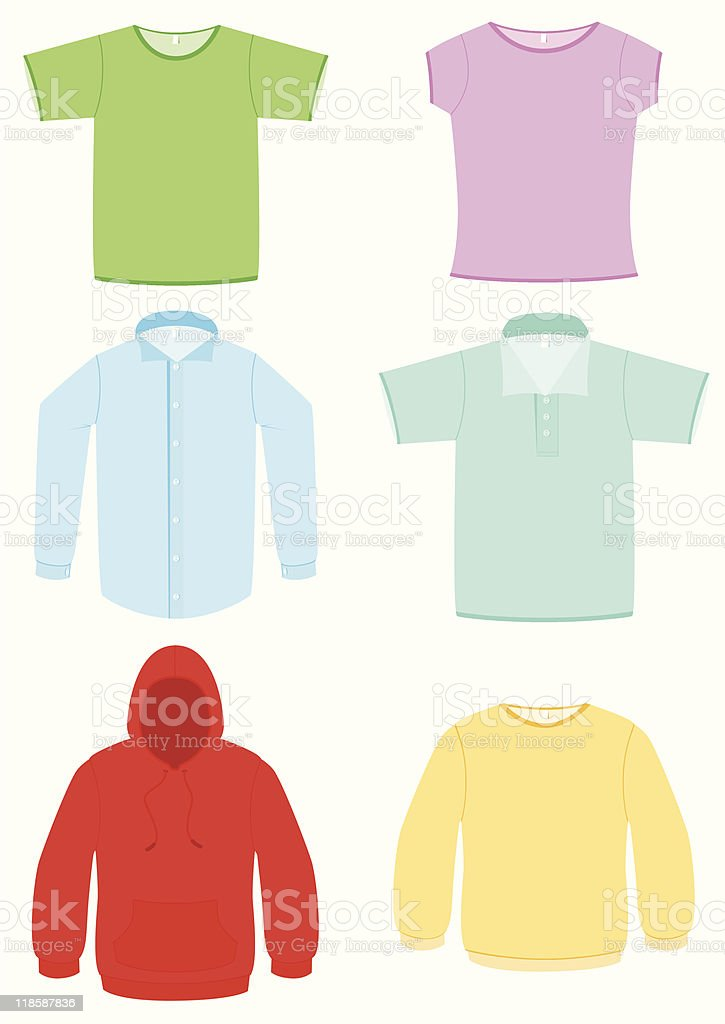 Clothing vector illustration set royalty-free stock vector art
