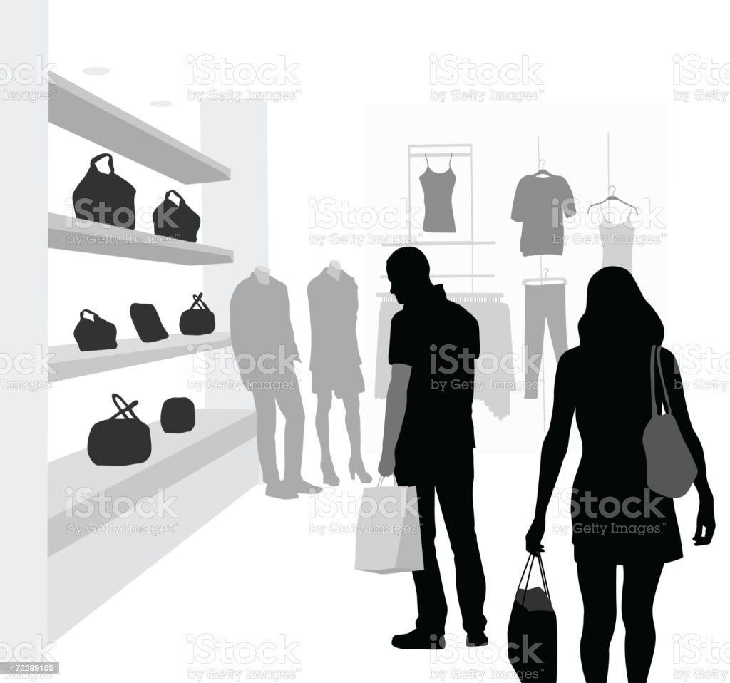 Clothing'n Accessories royalty-free stock vector art