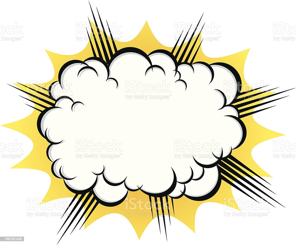 cloud after the explosion vector art illustration