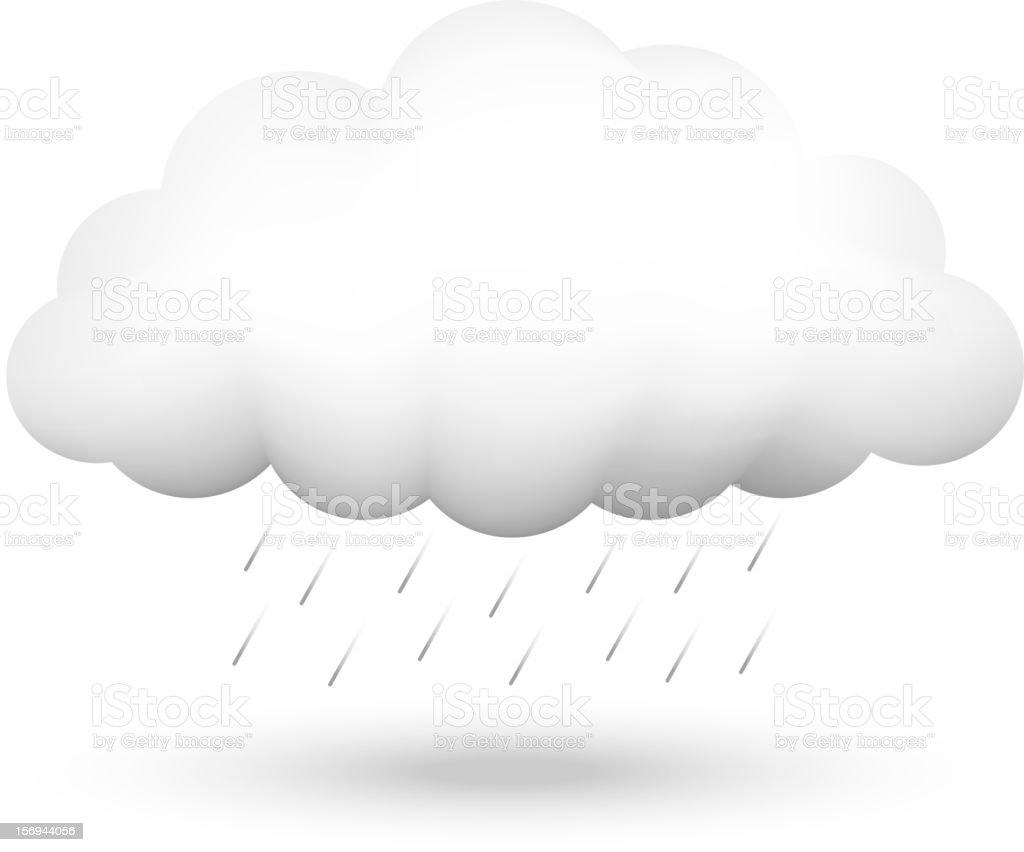 cloud and rain vector art illustration
