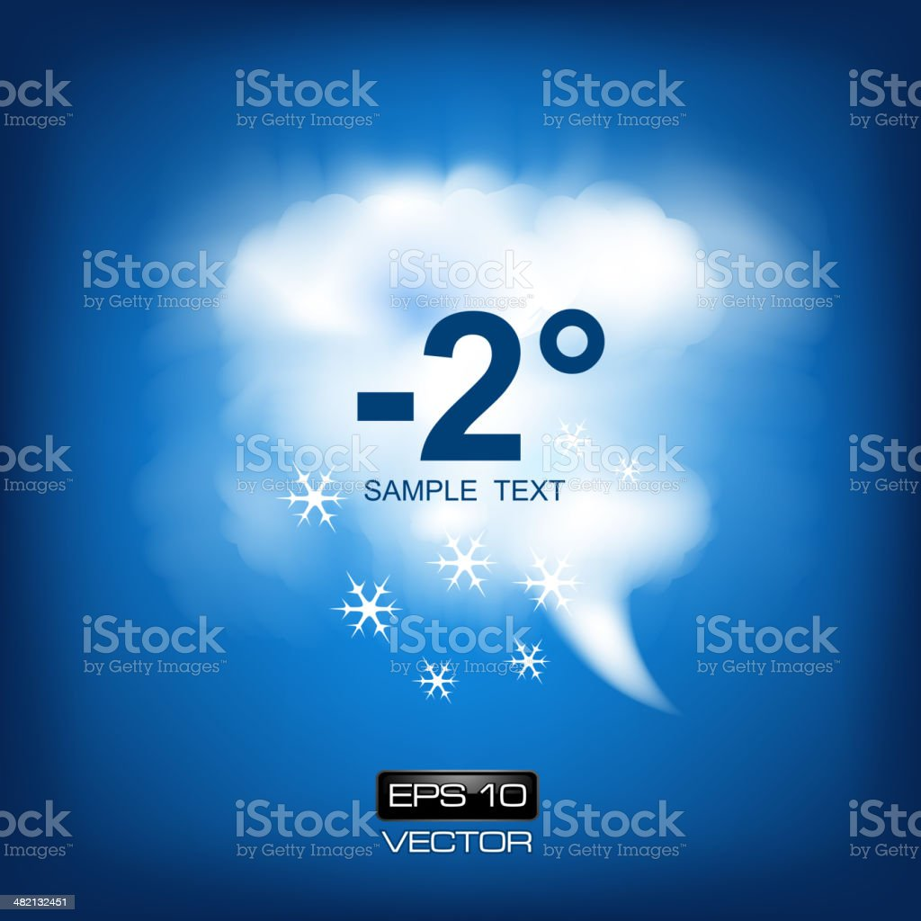 Cloud and Snow weather icon vector art illustration