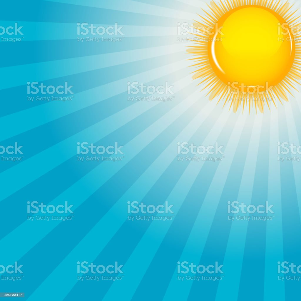 Cloud and sunny background vector illustration royalty-free stock vector art