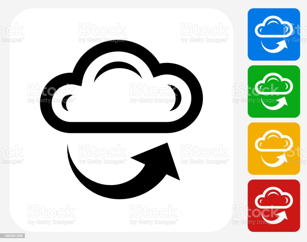 Cloud and Weather Icon Flat Graphic Design vector art illustration