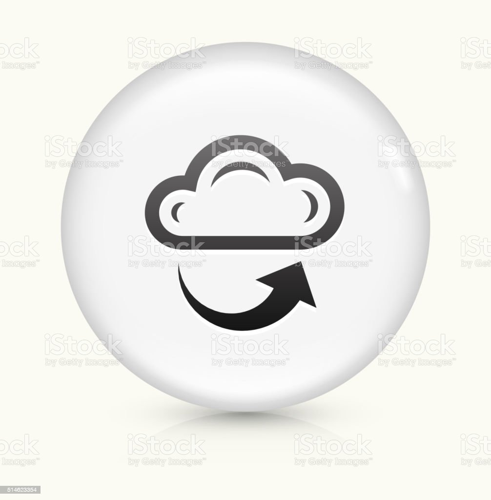 Cloud and Weather icon on white round vector button vector art illustration