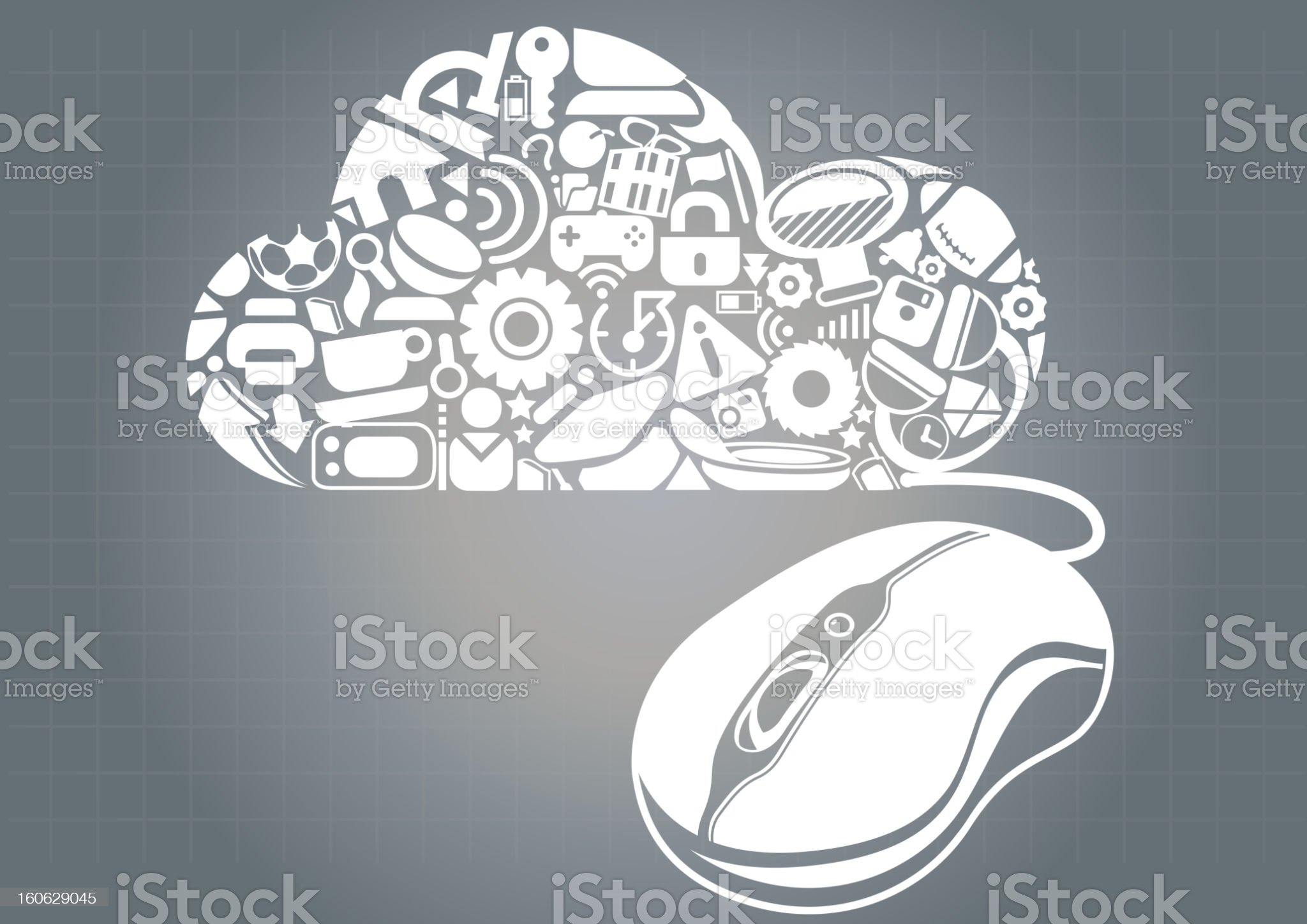 Cloud Application Resource royalty-free stock vector art