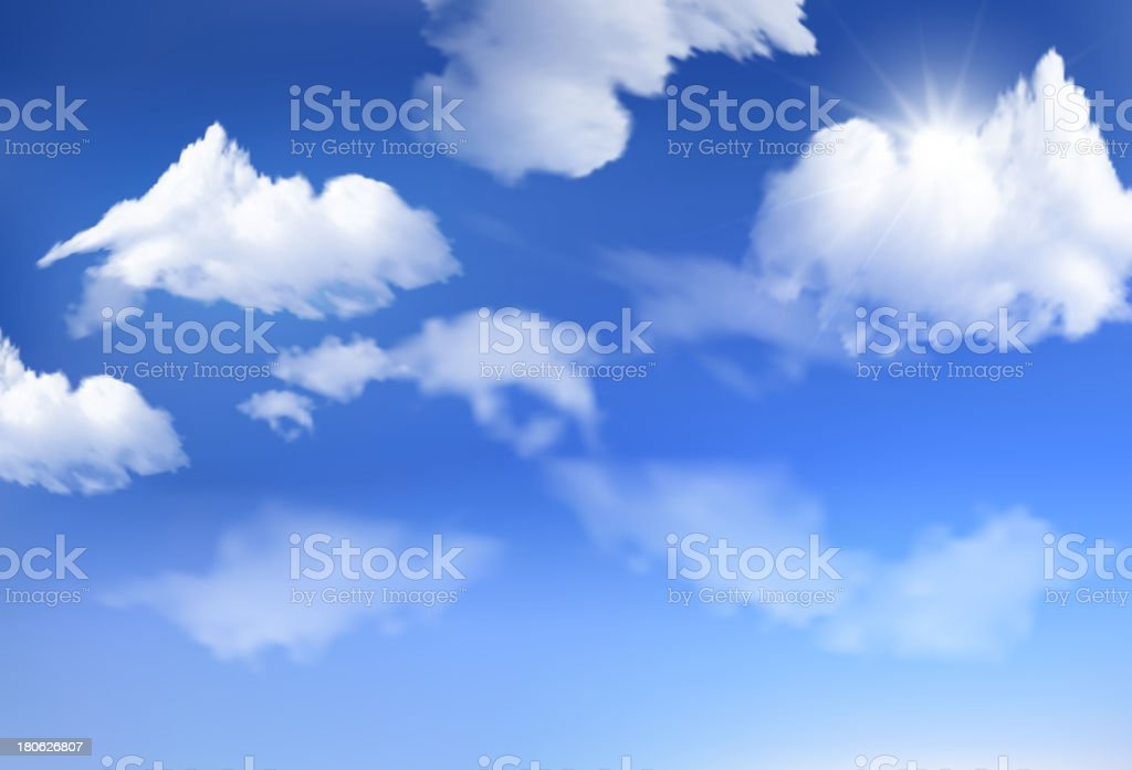 Cloud background royalty-free stock vector art