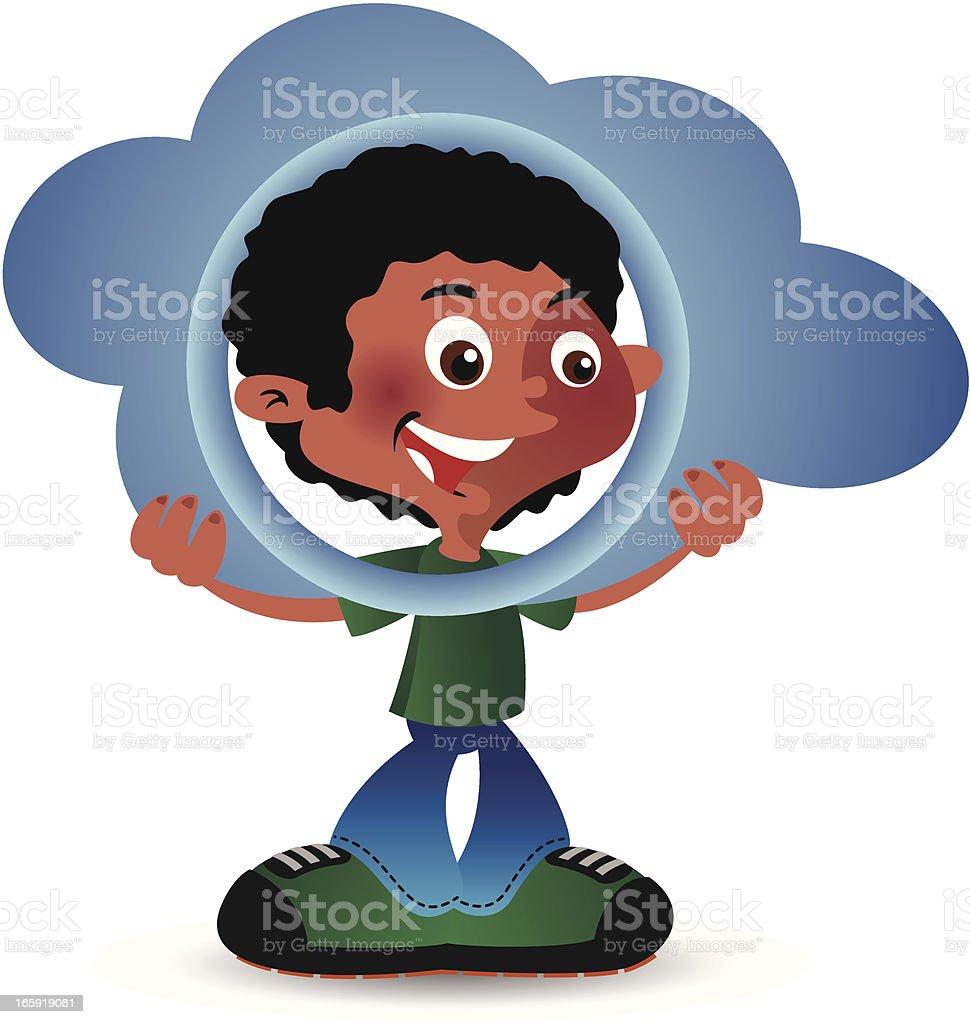 Cloud Boy vector art illustration