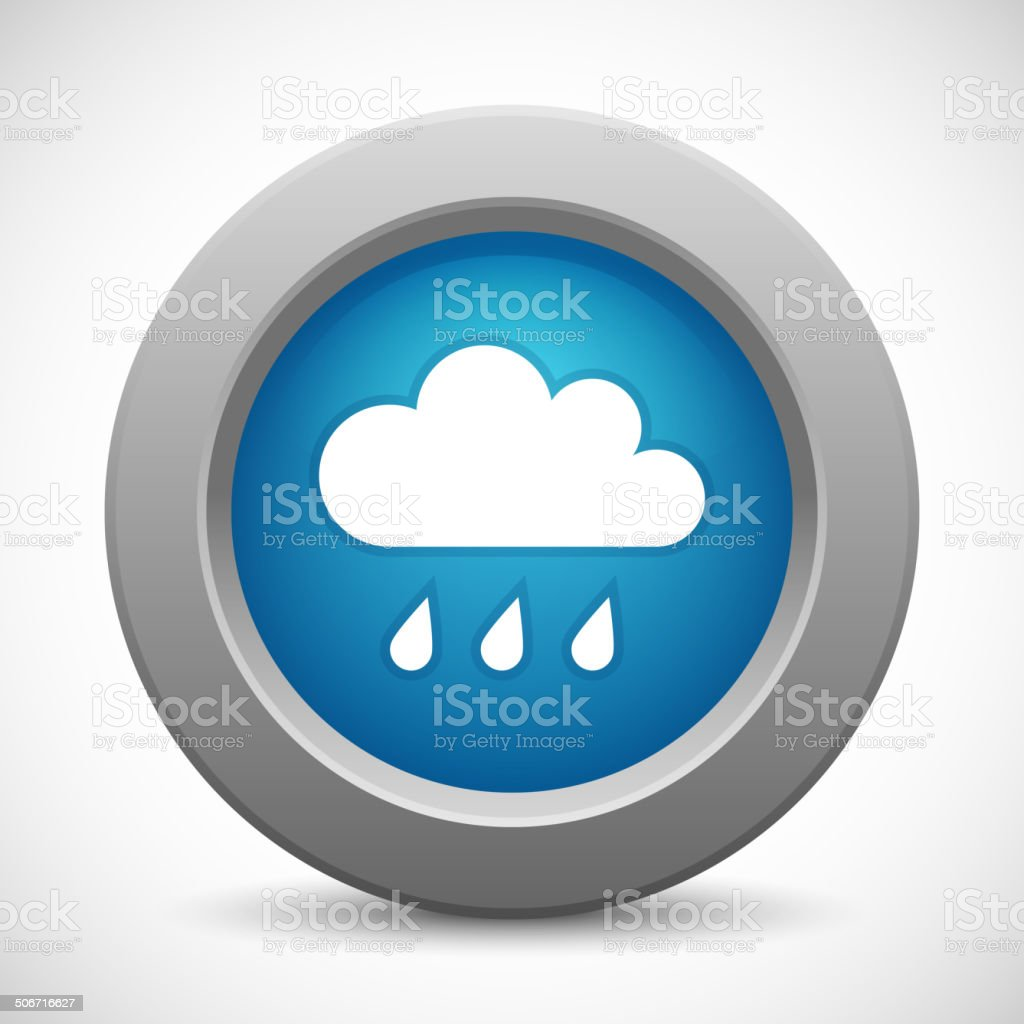 Cloud button royalty-free stock vector art