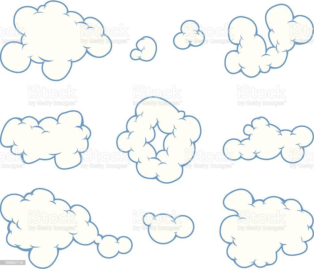 cloud cartoon vector art illustration