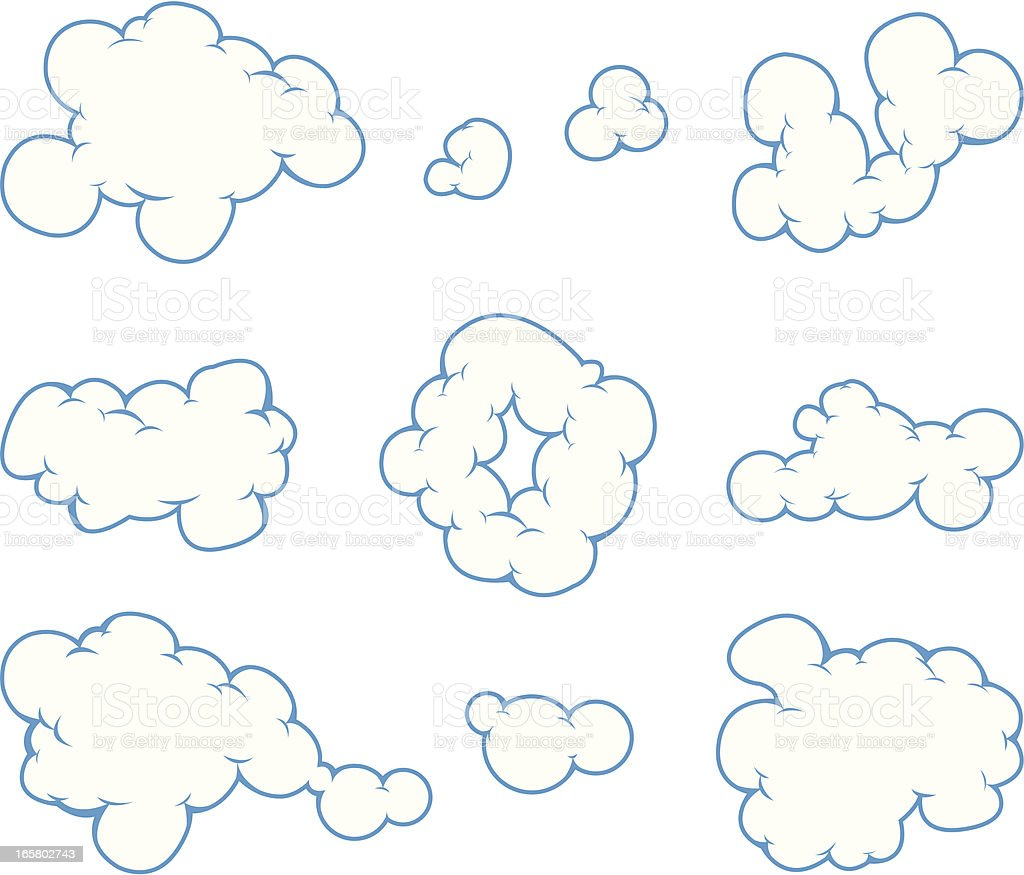 cloud cartoon vector art illustration