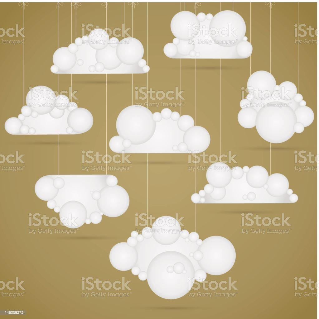 Cloud collection royalty-free stock vector art