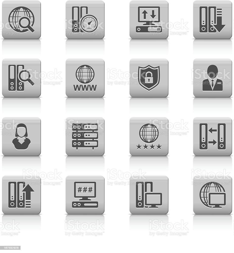 Cloud Computer icons vector art illustration