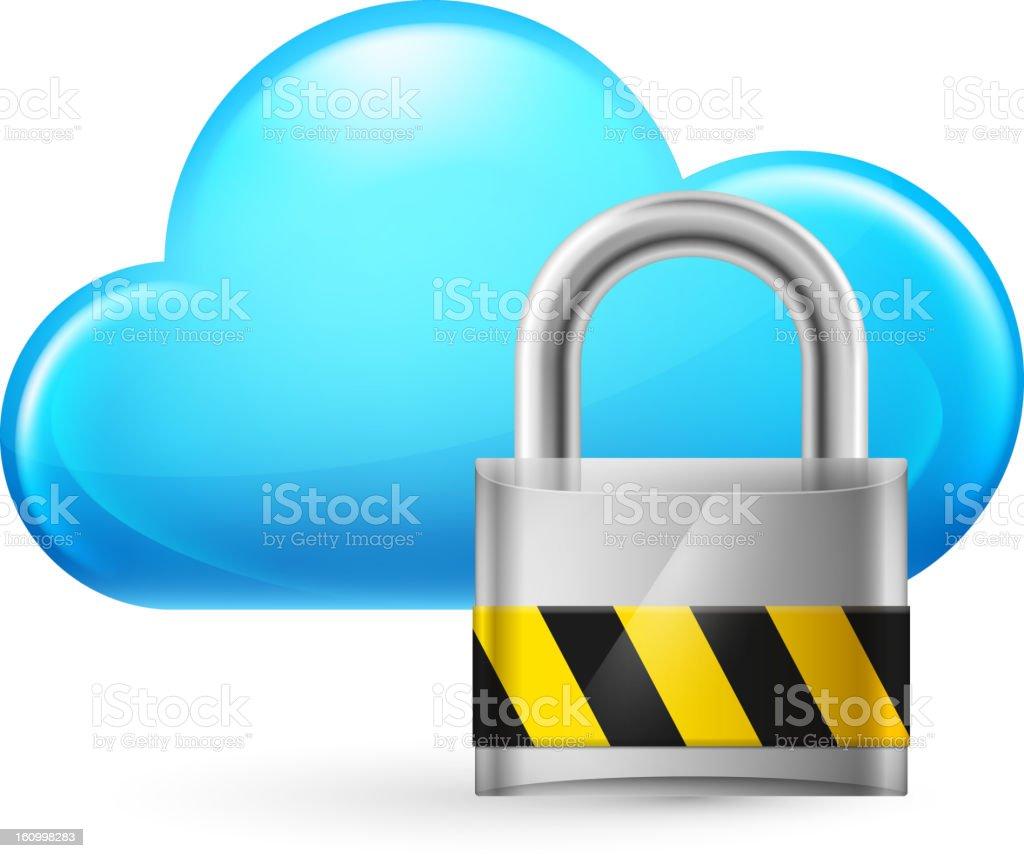 Cloud computing and key royalty-free stock vector art