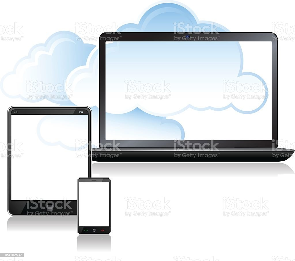 Cloud Computing and Laptop computer royalty-free stock vector art