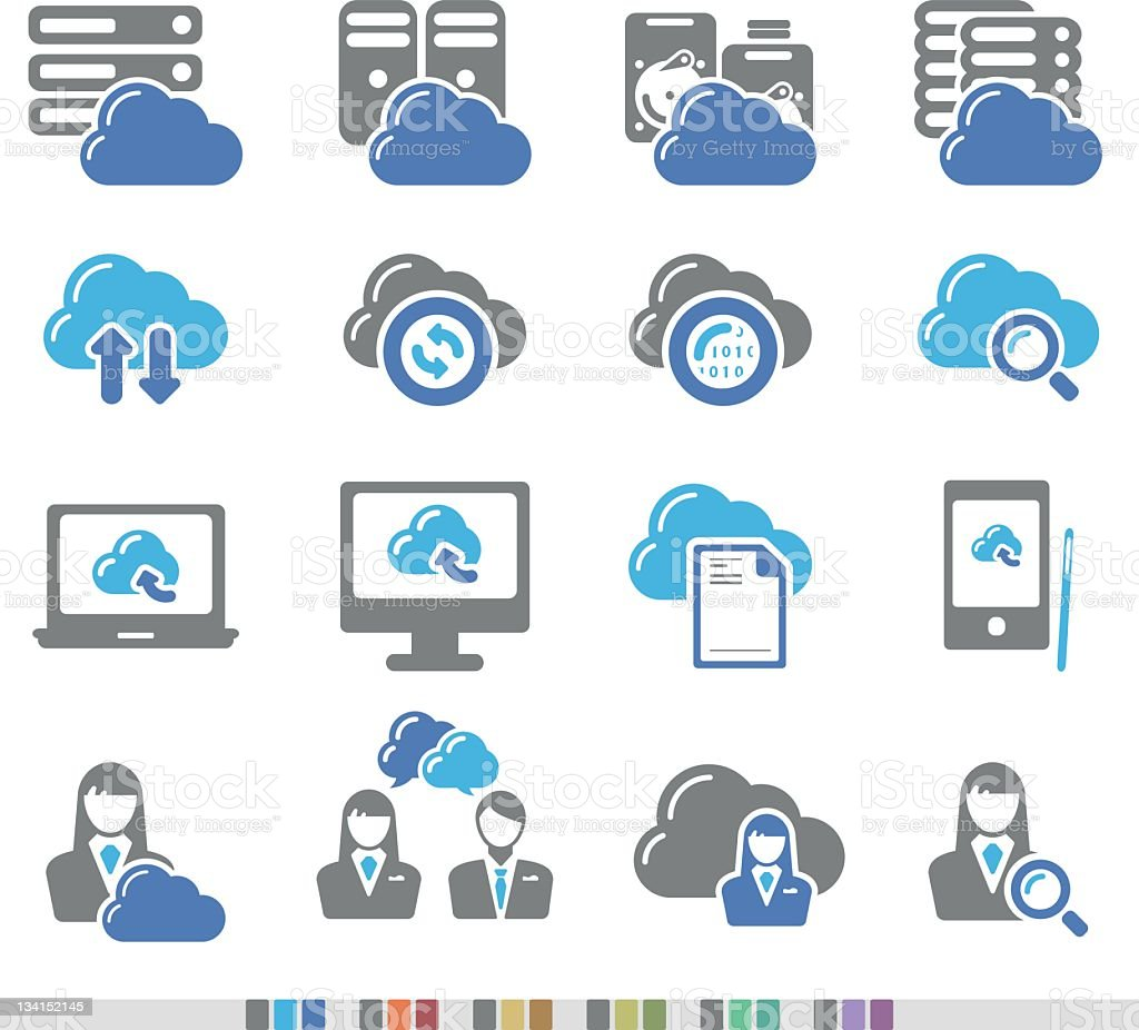 Cloud Computing | Chromatic Icons stock photo