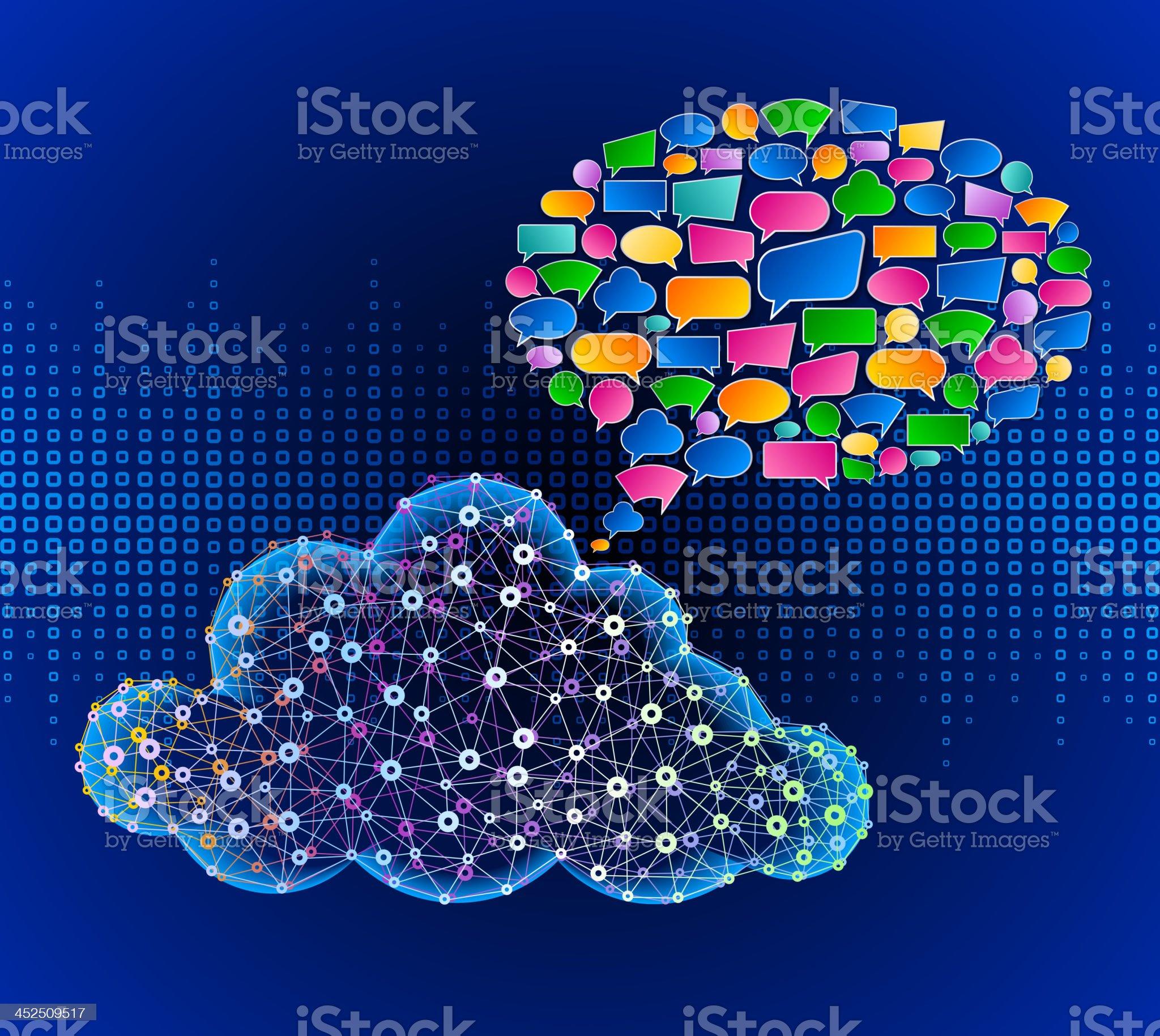Cloud Computing Communication Technology royalty-free stock vector art