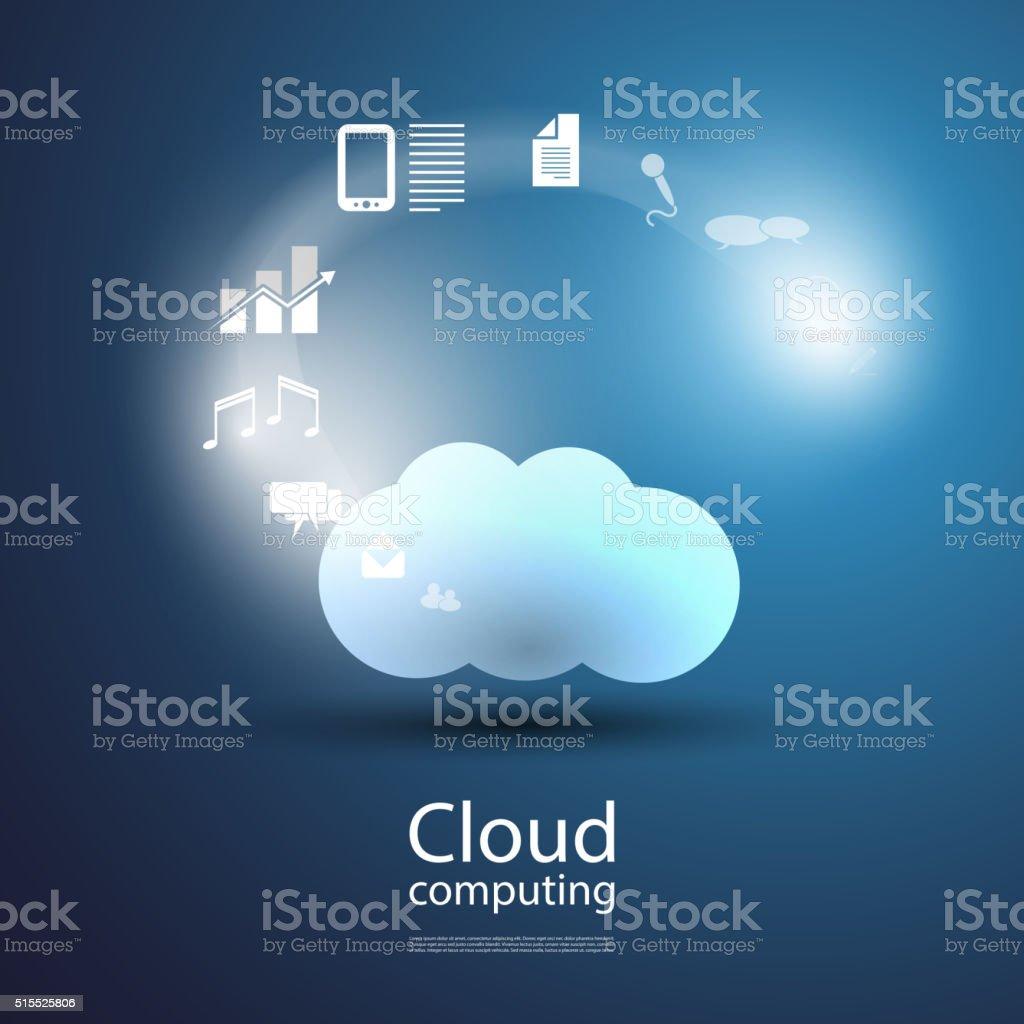 Cloud Computing Concept - Illustration for Your Business vector art illustration