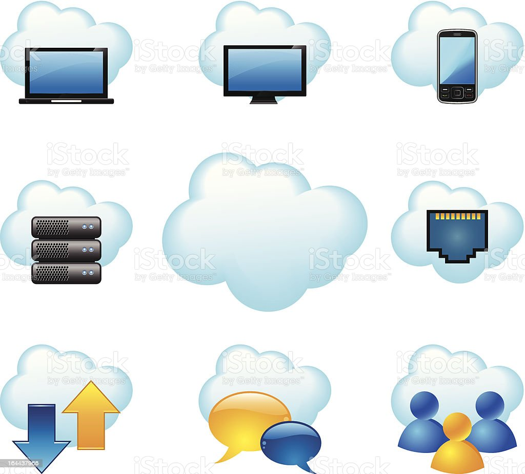 Cloud computing concept royalty-free stock vector art