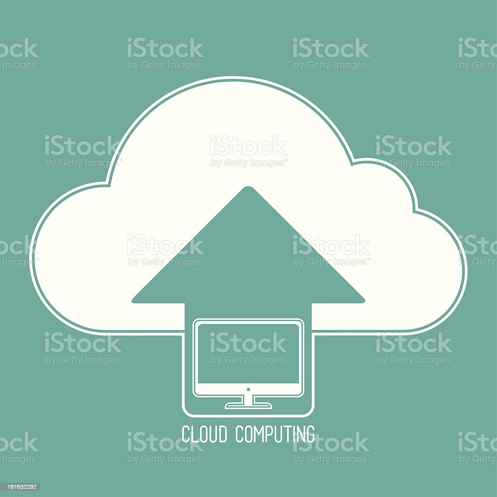 Cloud Computing Devices royalty-free stock vector art