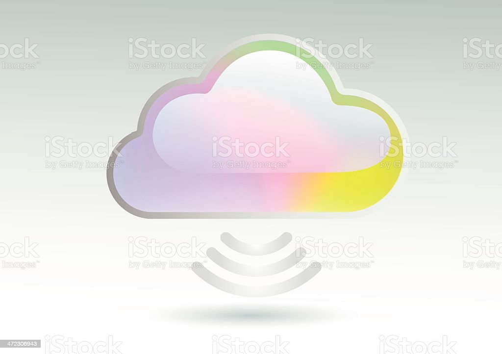 cloud computing icon multi-coloured royalty-free stock vector art