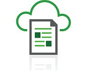 Cloud Computing icon on a white background. - FreshSeries