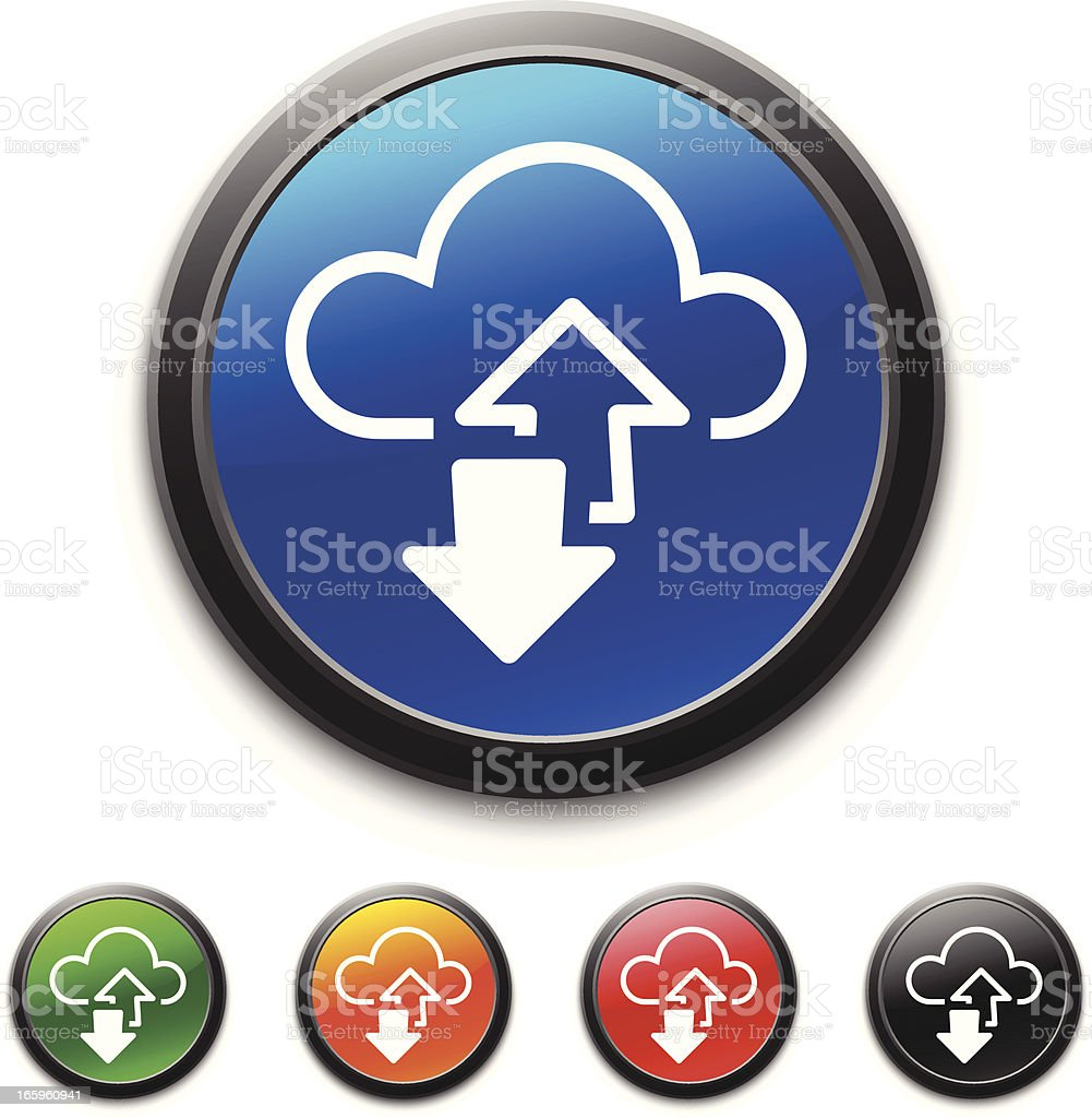 Cloud Computing icon royalty-free stock vector art