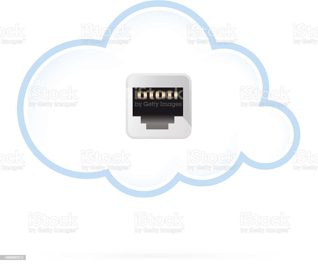 Cloud Computing Icon vector art illustration