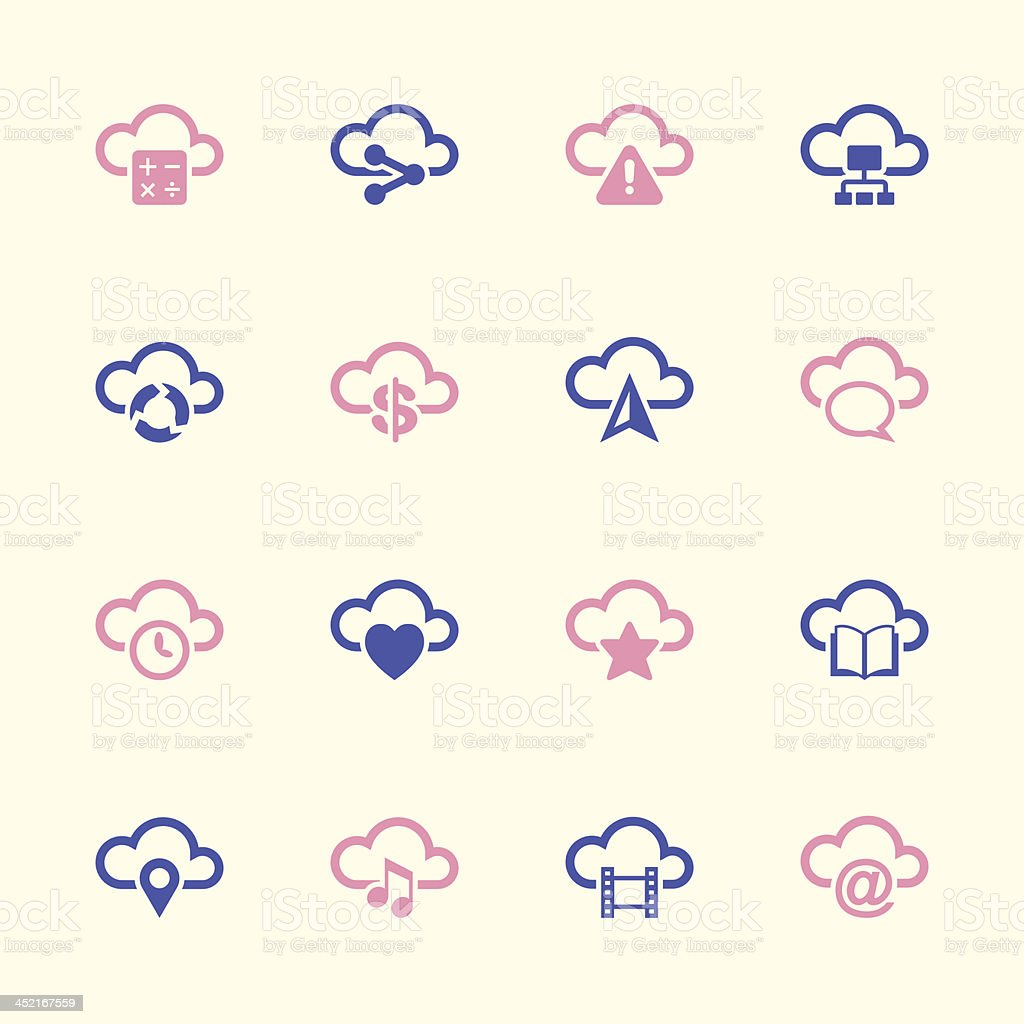 Cloud Computing Icons Set 2 - Color Series   EPS10 royalty-free stock vector art