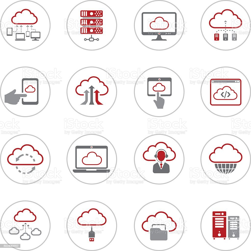 Cloud Computing Icons vector art illustration