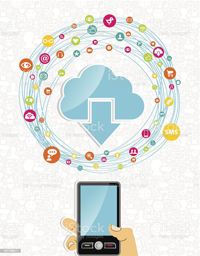Cloud computing network concept royalty-free stock vector art