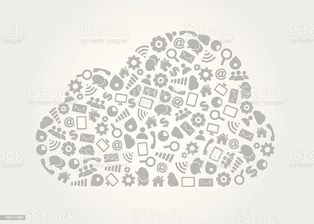 Cloud Computing Service Concept royalty-free stock vector art