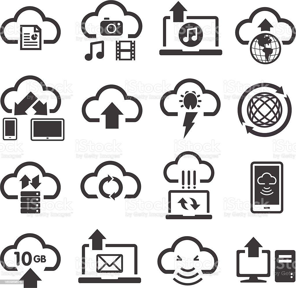 Cloud Computing & Storage Icons vector art illustration