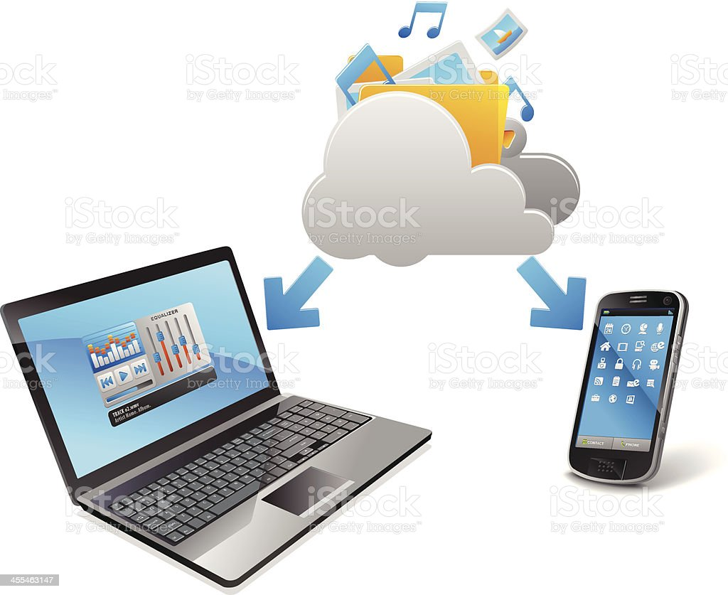 Cloud Computing trend royalty-free stock vector art