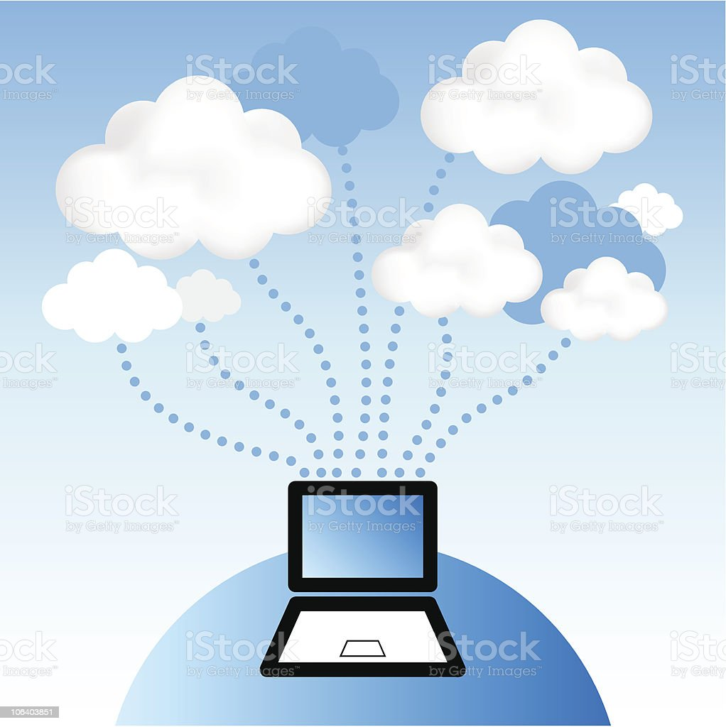 Cloud Computing vector art illustration