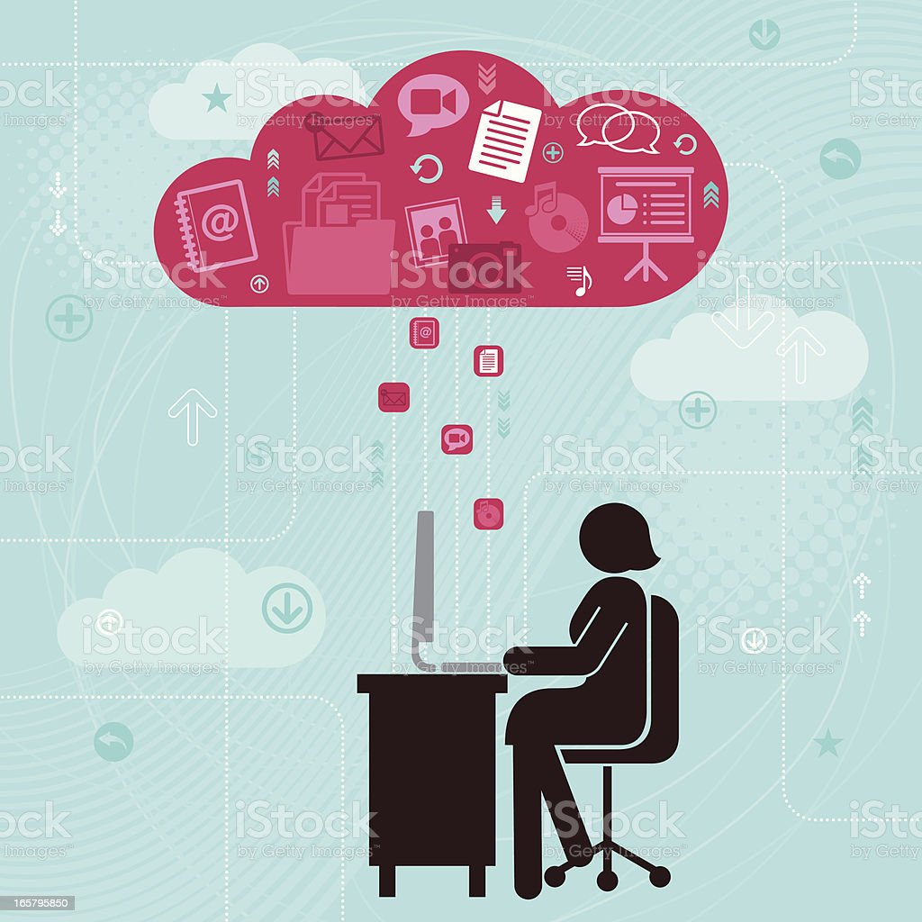 Cloud Computing royalty-free stock vector art
