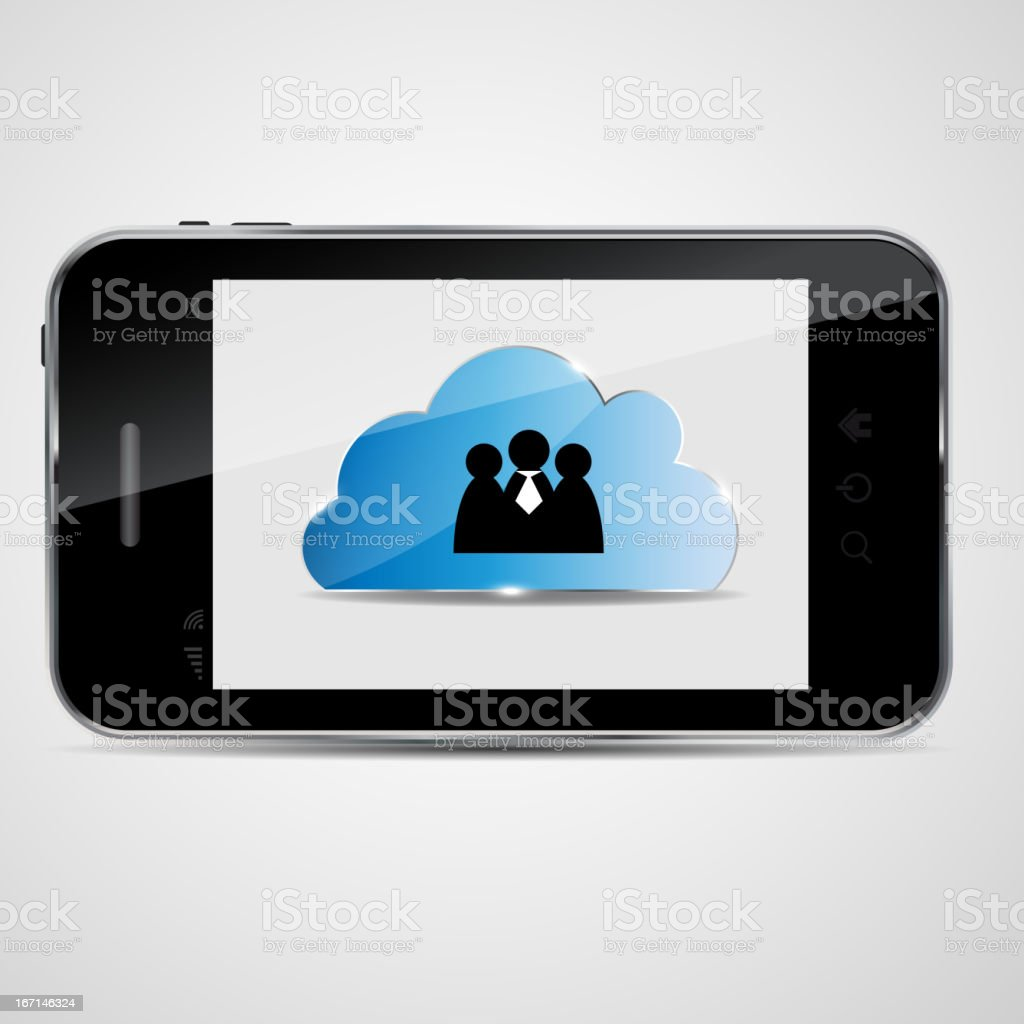 Cloud computing vector illustration royalty-free stock vector art