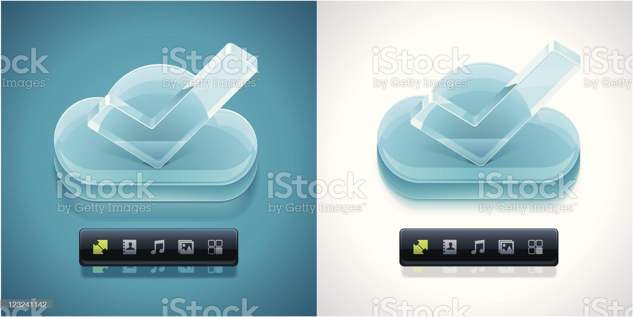Cloud computing XXL icon royalty-free stock vector art