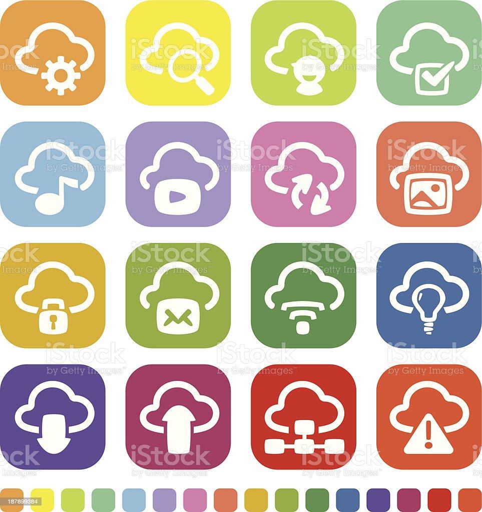 Cloud Concept Icon royalty-free stock vector art