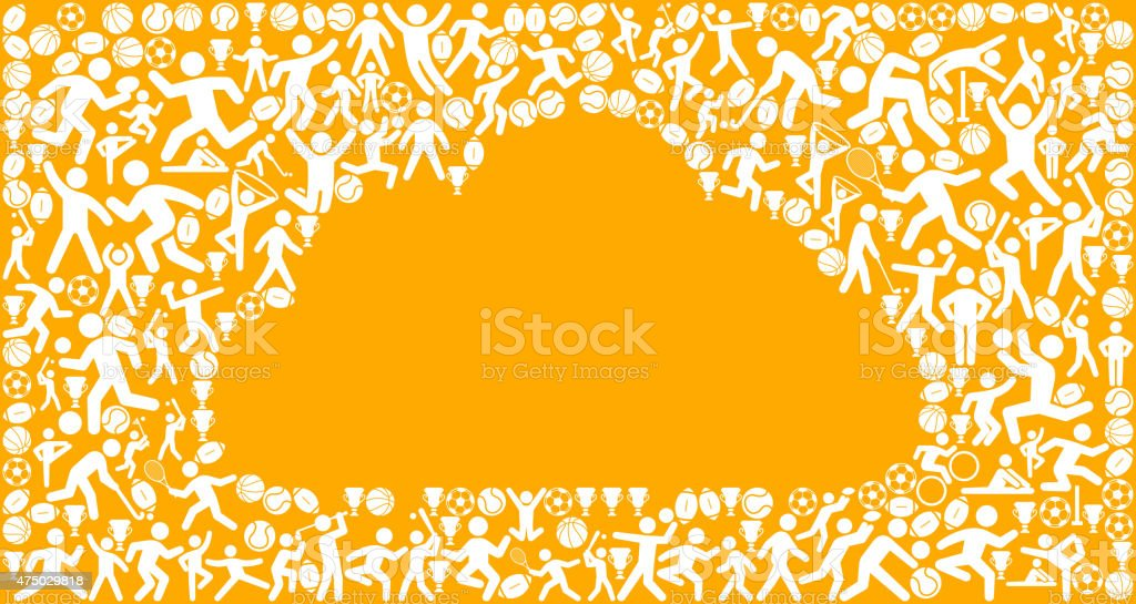 Cloud Fitness Sports and Exercise pattern vector background vector art illustration