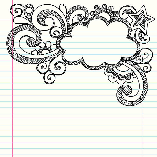 Lined Paper With Border Clip Art Vector Images Illustrations – Lined Border Paper