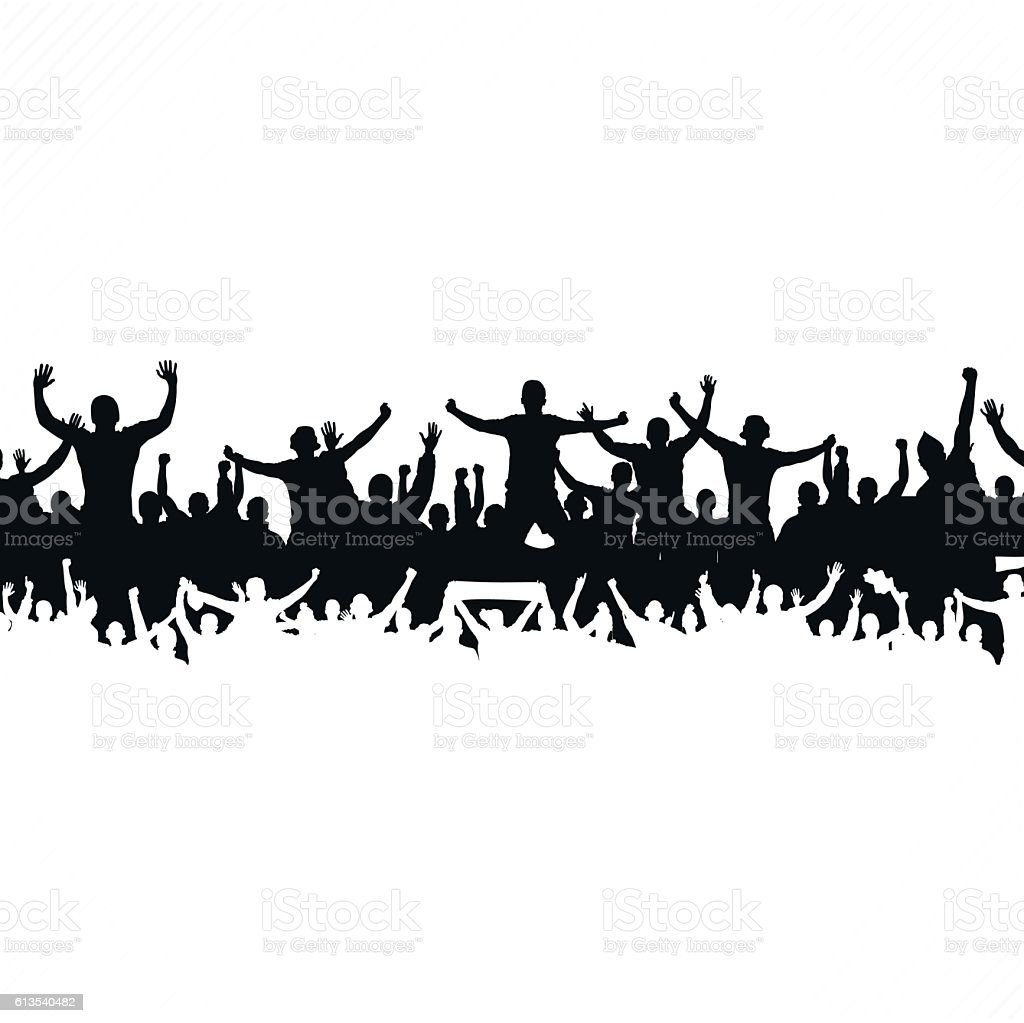 Cloud from the crowd vector art illustration