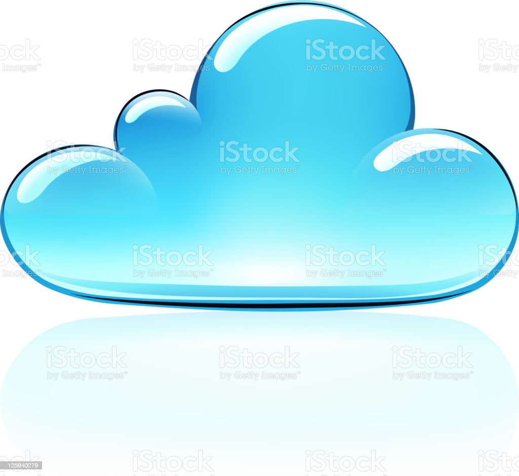 cloud icon royalty-free stock vector art