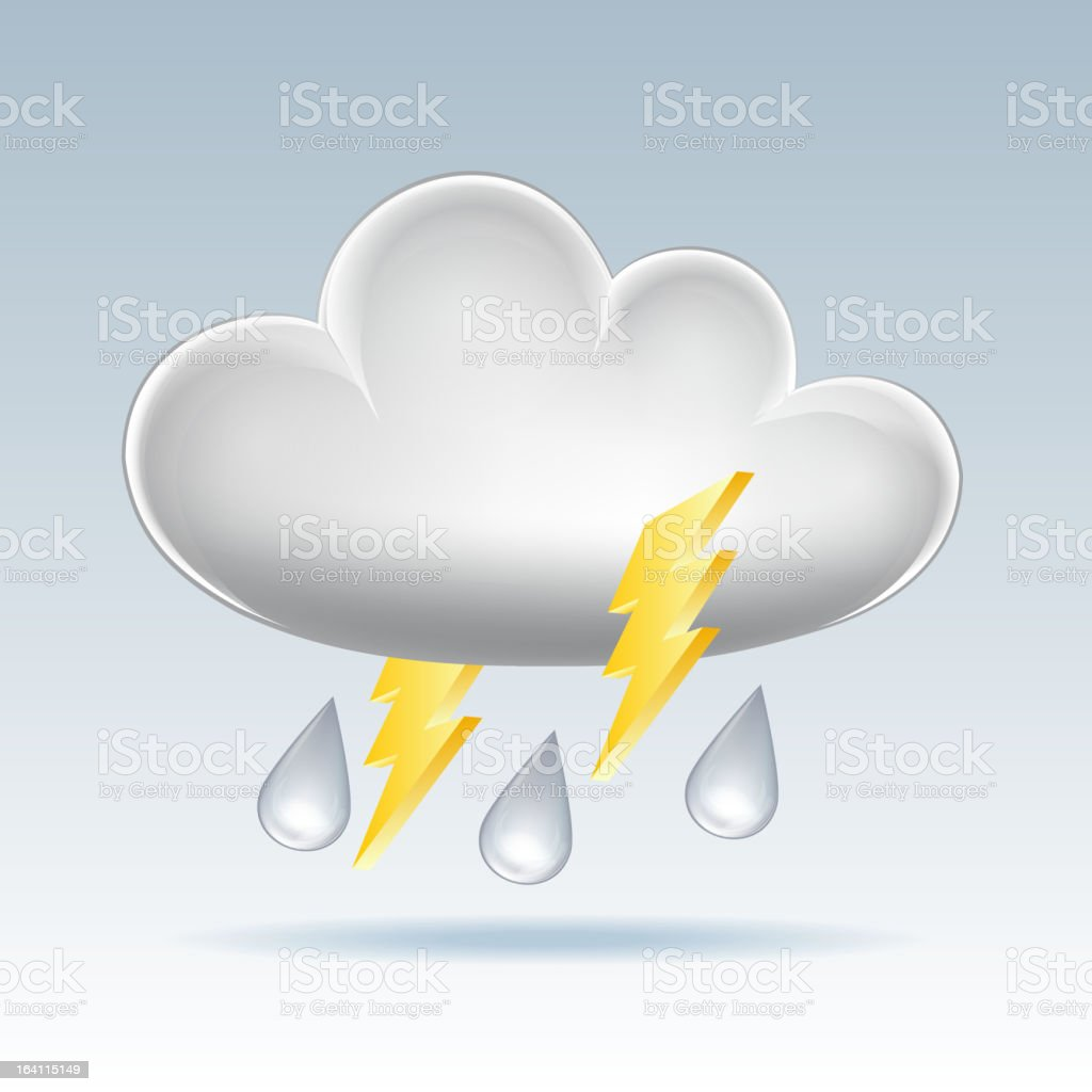 Cloud  icon. royalty-free stock vector art