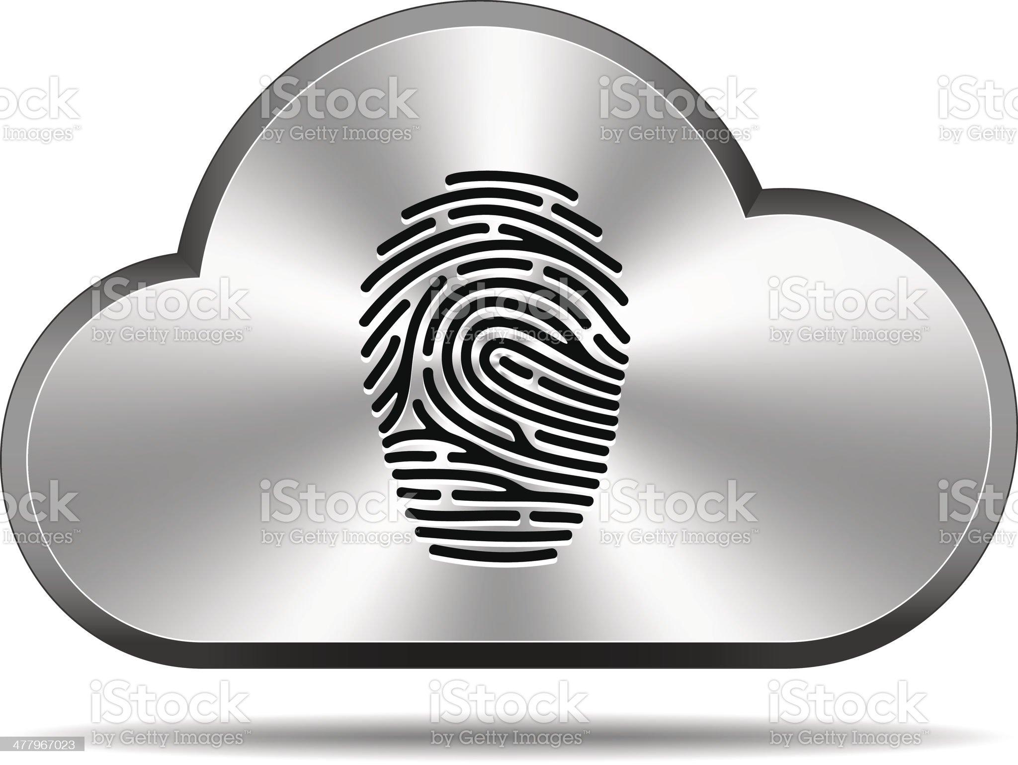 Cloud icon (fingerprint) royalty-free stock vector art