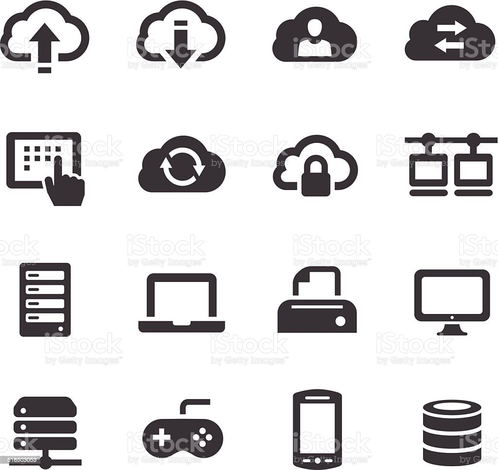 Cloud Icons - Acme Series vector art illustration