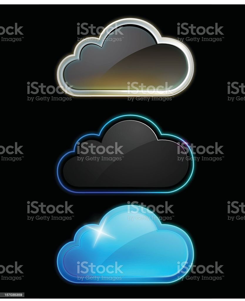Cloud icons stock photo